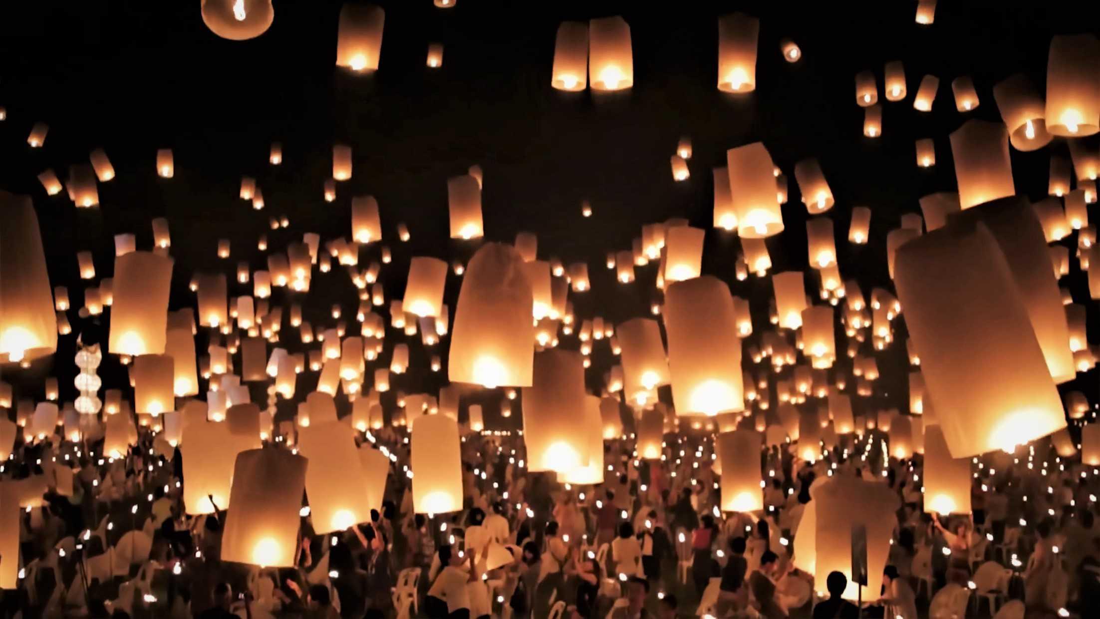 bucket list floating lanterns